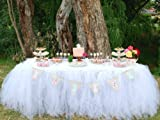 ♥ Questa tovaglia a forma di gonna crea un'atmosfera soft e di lusso alla tua festa. ♥La gonna da tavolo dona una finitura bella e professionale alle tue feste.Stendi le nostre tovaglie a forma di gonna per dare un tono formale al tuo matrimo...