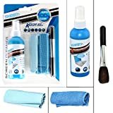LCD, LED, TV, Laptops, Mobiles and Monitor Screen Cleaning Kit - Spray Bottle with Microfiber Cloth & Brush (KCL-1025)