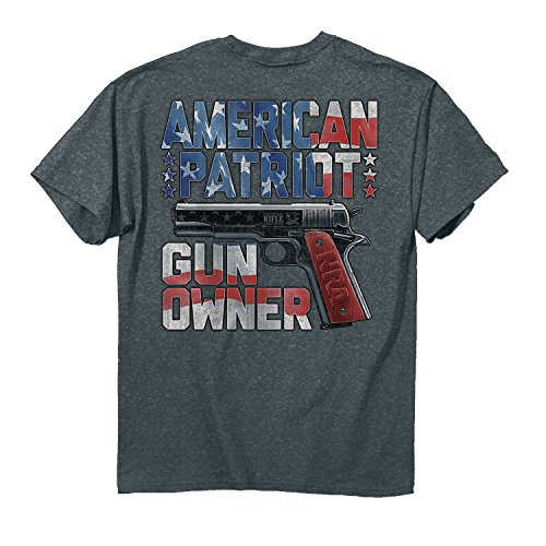 Buck Wear Herren T-Shirt NRA American Gun Owner Baumwolle Denim Heather, Denim Heather, 2X (Nra-t-shirts Für Männer)