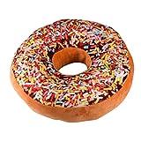 Kolylong New style Doughnut Pillow Shaped Ring Plush Soft Novelty Style Cushion Pillow (E)