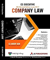 Company Law for CS Executive June 2017 Exam
