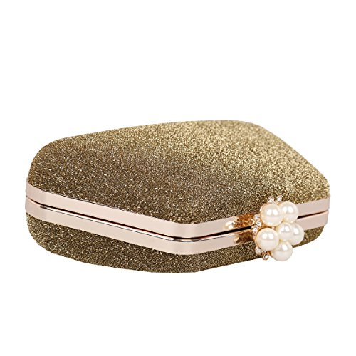 Damara® Partysabend Damen Hart Schachtel Taschen Im Trapezes Form Silber