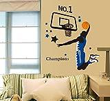 Jouer basket-ball sticker mural amovible Maison en papier peint de Salon Chambre Cuisine Art Images murales décoration de porte de fenêtre en PVC + Cadeau Grenouille 3D autocollant pour voiture