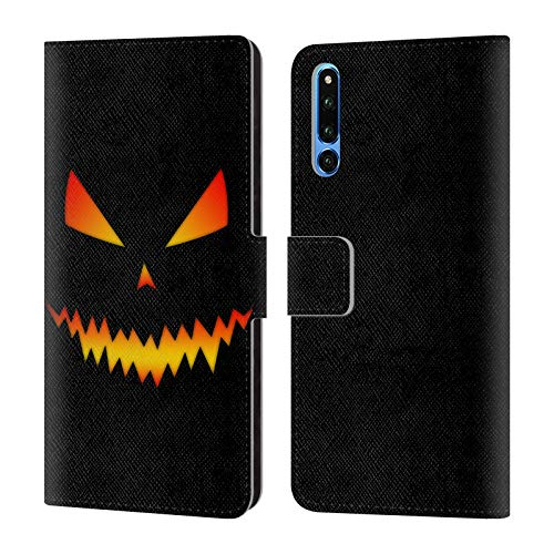 Head Case Designs Offizielle PLdesign Jack O Lantern Halloween Brieftasche Handyhülle aus Leder für Huawei Honor Magic 2