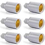 AWE-LIGHT Lot de 6 – G24 Adaptateur E27, Ampoule LED Base...