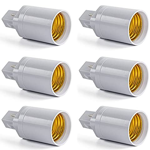 AWE-LIGHT Lot de 6 – G24 Adaptateur