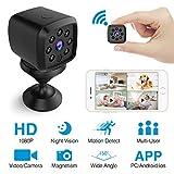 Caméra Espion wifi, HEYSTOP Mini Caméra Cachée HD 1080P Portable Petite Caméra Support Détection de Mouvement Surveillance Enregistreur Vidéo avec Mobile Live View pour iPhone/ Android/ iPad
