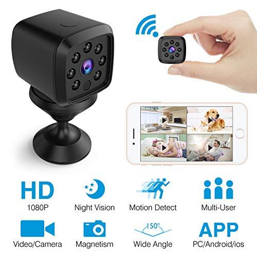 HEYSTOP Mini Kamera WiFi, Spion Versteckte Kameras WLAN 1080P Überwachung Kamera Kindermädchen-Kamera mit Bewegungserkennung Nachtsicht, Fotografieren für Heim und Büro Sicherheit