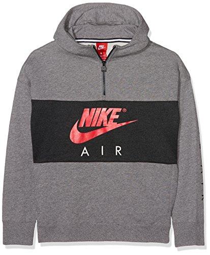 Nike B NK Air Hz Po Sweatshirt, Kinder M grau / (carbon heather / anthracite / siren red) (Pullover Air)