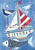 Glückwunschkarte Geburtstag Postkarte Kerstin Heß ~ Fische & Meer