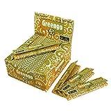 greengo Zigarettenpapier, dünn, Kingsize, 50 Stück pro Schachtel