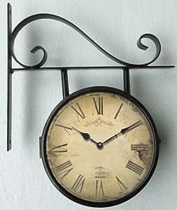 Orologio da parete orologio di stazione 16 5cm orologio for Orologi da cucina ikea