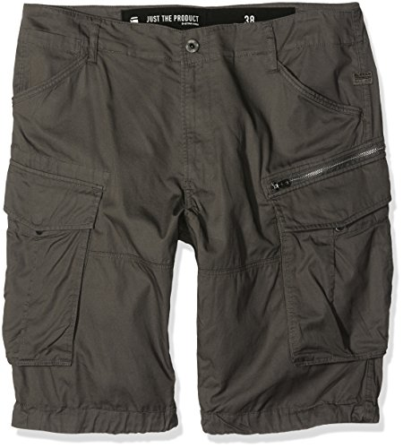 G-Star Rovic zip 1/2-Shorts Uomo, Grigio (Gs Grigio 1260), 42 (Taglia produttore 36)