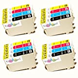 *TITOPATEN* 16x Epson Stylus Office BX 535 WD Plus kompatible XL Druckerpatrone ersetzt Typ T1291 - 1294n - 4xSchwarz-4xCyan-4xMagenta-4xGelb - Patrone MIT CHIP !!!
