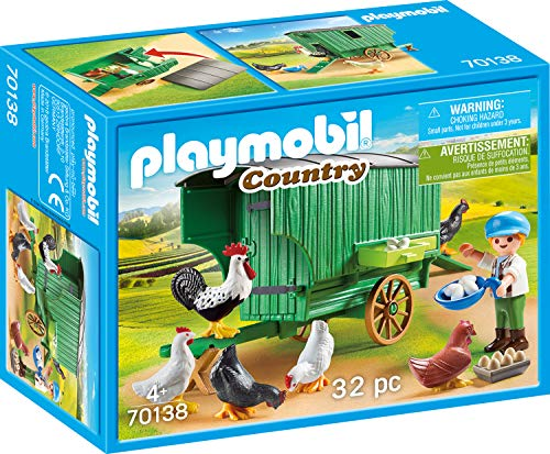 Playmobil 70138 Maison de Poules Country Multicolore