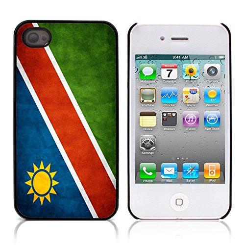 Graphic4You Vintage Uralt Flagge Von Senegal Senegalesisch Design Harte Hülle Case Tasche Schutzhülle für Apple iPhone 4 und 4S Namibia Namibisch