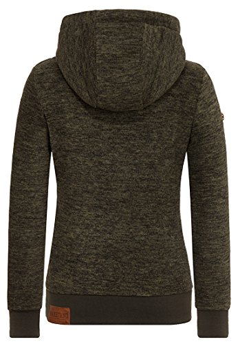 Naketano Female Hoody Kanisterkopf Dirty Dark Olive Melange