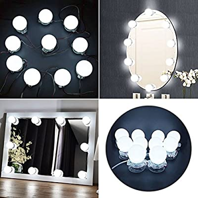 Hollywood Style LED Vanity Mirror Lights Kit with Dimmable Light Bulbs,Bathroom Bulbs Lights for Makeup Dressing Table Vanity Set Mirrors, mirror not included(10bulbs)) - inexpensive UK light store.