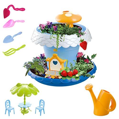 Exing - Herramientas de plantación LED Music Sky Garden Mini Maceta de Flores Creativa casa de jardín Bricolaje para niños Juguetes educativos Precoces