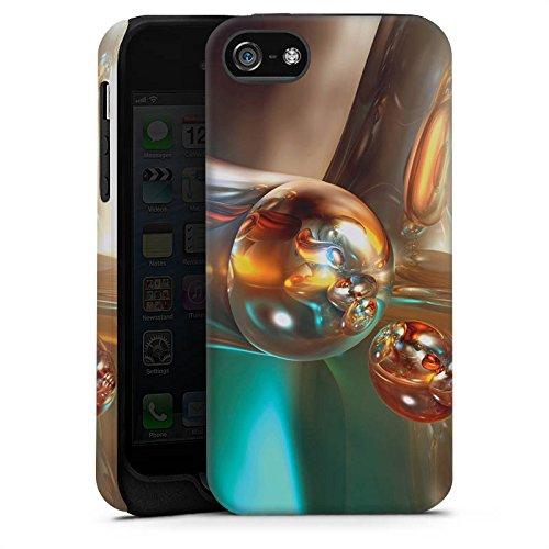 Apple iPhone 4 Housse Étui Silicone Coque Protection Bulles Bulles Chrome Cas Tough terne