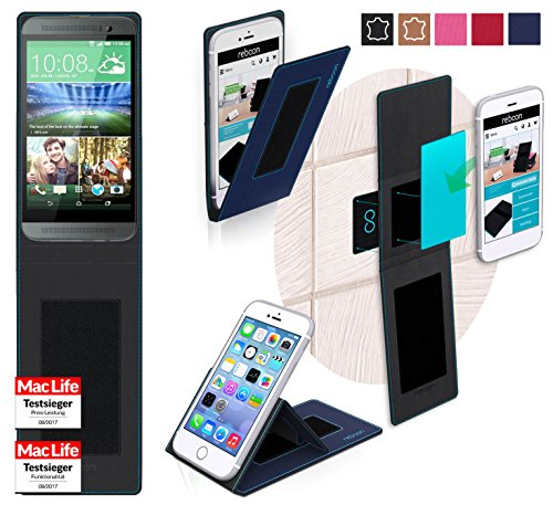 reboon Hülle für HTC One E8 Tasche Cover Case Bumper | Blau | Testsieger E8 Handy