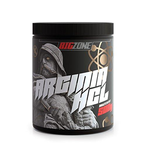 Big-Zone L-Arginin HCL Pulver Aminosäure Booster | Rein & optimal löslich | Top Qualität | Power, Kraft, Ausdauer, Pump | 500g