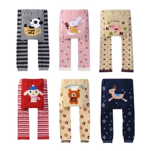 Kubeer 60-3T pantaloni bambino PP Bambino Leggings pantaloni gamba ragazza bambini bambino vestiti 6 color as photo 1-2 Anni