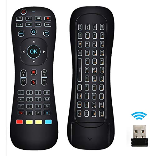 EEEKit Updated Air Mouse Backlit, 2.4G Wireless Android Kodi Remote Mini Keyboard Infrared Learning Voice Input for Android TV Box Xbox PC Pad