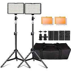 """Photography 160 Lumiere LED Video pour Appareil Photo Reflex numérique Photographie Éclairage, Yeeteem 160 LEDs Torche vidéo kit 3200/5500K Kit d'éclairage de caméra Compris 79"""" Pieds"""