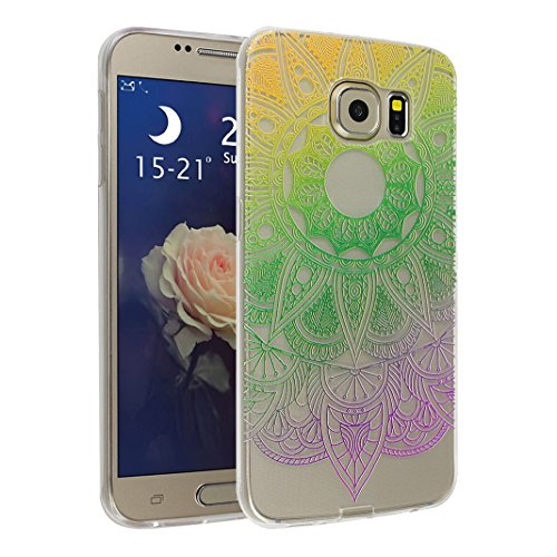 TPU Cover Pour Samsung Galaxy S6, Asnlove Soft Silicone TPU Housse Motif De Transparent Unique Coque Ultra Mince Ultra Léger Nouveauté Étui Anti Scratch Shell Pour Samsung Galaxy S6