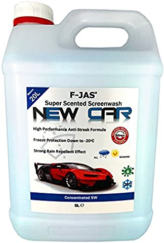 F-JAS Super Scented Screenwash (5L Concentrated, New Car