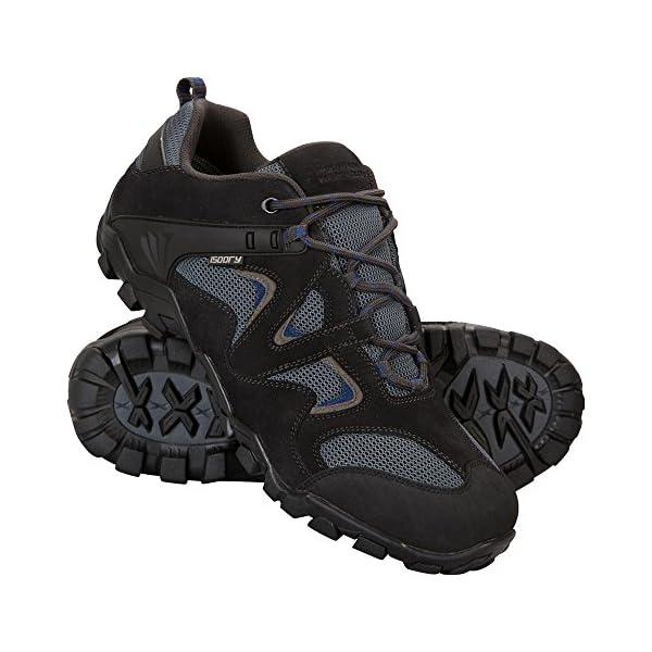 Mountain Warehouse Zapatillas Curlews Impermeables para Hombre Suela de Goma Material Exterior de Gamuza y Malla R/ápido Secado Ideal para Acampada y Senderismo