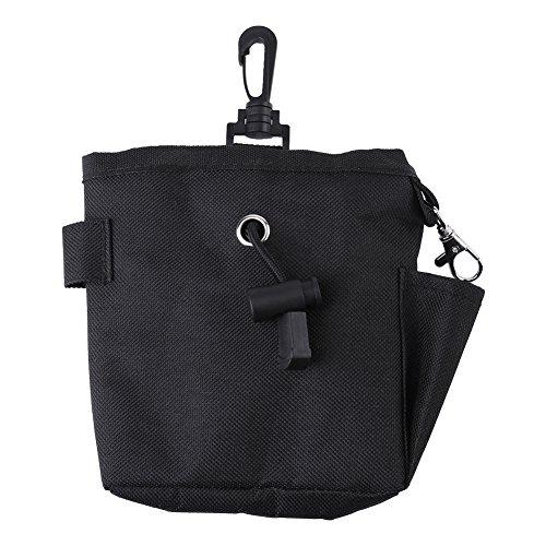 Pet Treat Tasche Hund Gehorsam Ausbildung Waist Pouch Essen Snack Bag für kleine Gegenstände und Lebensmittel Lagerung Black Gürteltasche(Schwarz) (Storage Ausbildung)