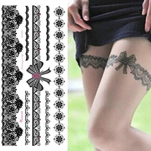 Wassertransfer Socken Sexy Lace Fake Tattoo Flash für Frauen von Waterproof Girl Selbstklebend von Tätowierung auf QC-503