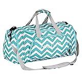 MOSISO Sport Gym Tasche Reisetasche mit vielen Fächern, Schultergurt, Tragegurt für Fitness, Sport und Reisen Sporttaschen mit Designs, Chevron Heiß Blau
