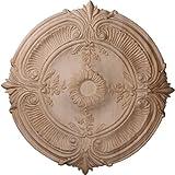 Ekena Millwork CMW16ACRO 16-Inch OD x 1 1/8-Inch P Carved Acanthus Leaf Wood Ceiling Medallion, Red Oak by Ekena Millwork