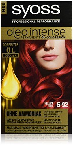 Syoss Oleo Intense Haarfarbe, 5-92 Helles Rot, 115 ml
