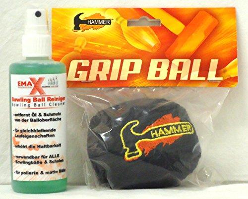 EMAX Bowling- Ball und Kugel Reiniger + Hammer Grip Ball