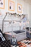 cama montessori infantil casita. Color gris (190x90cm)