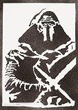moreno-mata Kylo Ren Star Wars Handmade Street Art - Artwork - Poster