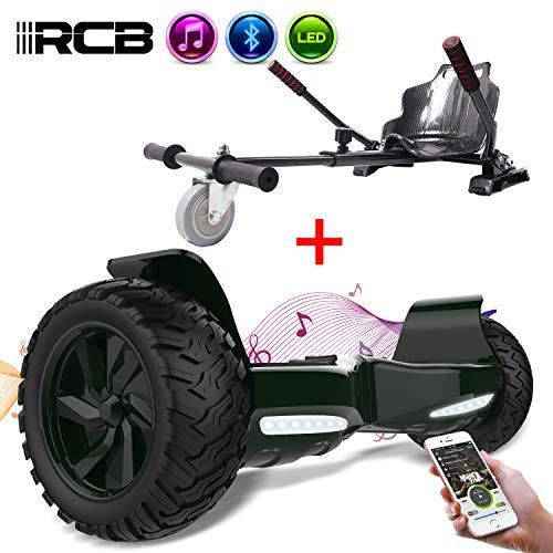 RCB Self Balancing Scooter SUV Selbstausgeglichener Elektroroller Off-Road 8,5 '' Scooter Hummer Bluetooth APP + Hoverkart Go Kart für Self Balancing Scooter