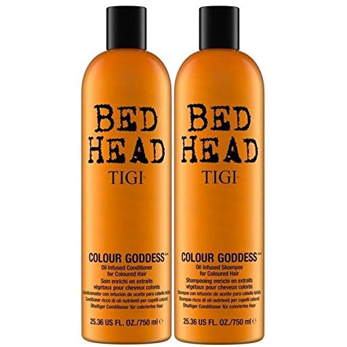 Tigi Bed Head Colour Goddess Duo Pack  für koloriertes Haar (Shampoo 750ml und Conditioner 750ml) - Pflege Value Pack