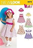 New Look Kleider für Kleinkinder Schnittmuster Nr. 6879 Baby Mütze