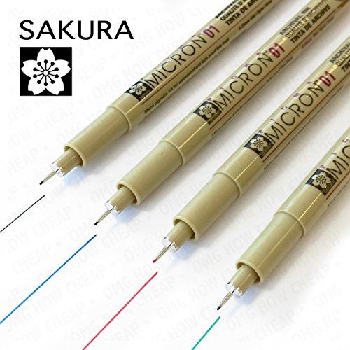 sakura-pigma-micron-pigment-fineliner-pack-von-4-01-mm-schwarz-blau-rot-und-grun
