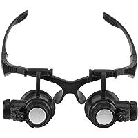 10X 15X 20X 25X Gioielli Telefono Orologio Riparazione Magnifier Mani Libere Occhiali con Lente d'ingrandimento Lenti d…