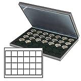 Münzenkassette NERA M [Lindner 2364-2124CE] mit schwarzer Münzeinlage