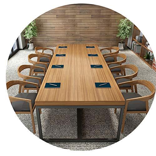 JZX Schreibtisch Aus Schmiedeeisen, Konferenztisch, Langer Tisch, Esstisch, Verhandlungstisch Für Schulungen, Moderner Computertisch,140 * 70 * 75,5 cm dick