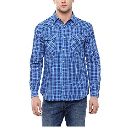 9. Yepme Men's Blue Cotton Shirts - YPMSHRT1212_40