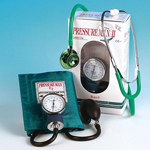 Pressure Man II Set Blutdruckmeßgerät mit Doppelkopf Stethoskop