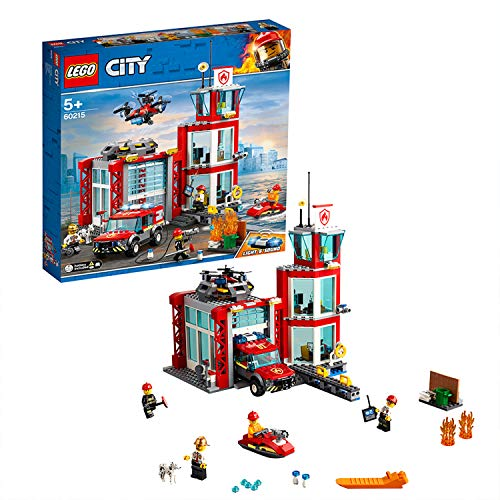 LEGO City - La caserne de pompiers - 60215 - Jeu de construction